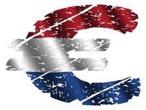 De Nederlandse Euro van Grunge Royalty-vrije Stock Foto