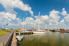 De Nederlandse haven van Hindeloopen Stock Foto