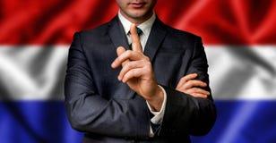 De Nederlandse kandidaat spreekt aan de mensenmenigte Royalty-vrije Stock Afbeelding