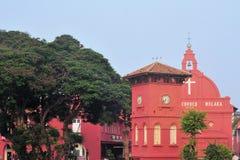 De Nederlandse Klokketoren en Kerk van Christus in Malacca Royalty-vrije Stock Foto