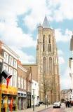 In de Nederlandse stad van Gorinchem. Stock Afbeeldingen