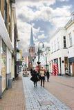 In de Nederlandse stad van Gorinchem. Royalty-vrije Stock Afbeelding