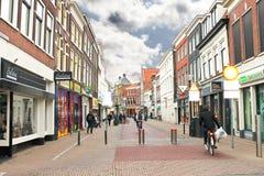 In de Nederlandse stad van Gorinchem. Stock Foto