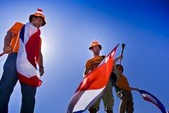 De Nederlandse Ventilators van het Voetbal - WC 2010 van FIFA Stock Fotografie