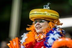 De Nederlandse verdediger van voetbalvrouwen Stock Afbeelding