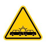 De neerstorting van de aandachtsauto De auto's van het voorzichtigheidsongeval Vervoerswrak stock illustratie