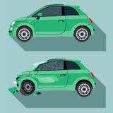 De neerstorting van de auto stock illustratie