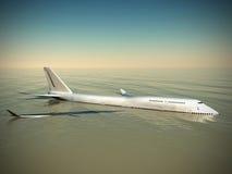 De neerstorting van Boeing stock illustratie