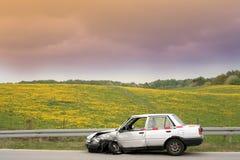 De neerstorting van de auto royalty-vrije stock afbeelding