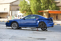 De neerstorting van de auto Stock Afbeelding
