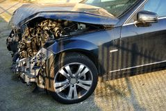 De neerstorting van de auto stock foto