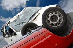 De neerstorting van de auto royalty-vrije stock fotografie