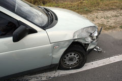 De neerstorting van de auto Stock Fotografie