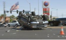 De neerstorting van de auto Royalty-vrije Stock Afbeeldingen