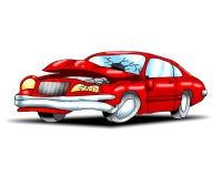 De neerstorting van de auto royalty-vrije illustratie