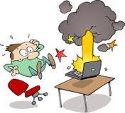 De neerstorting van de computer Stock Foto