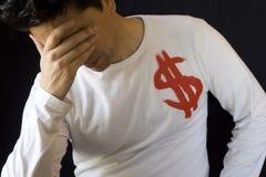 De neerstorting van de dollar Stock Afbeelding