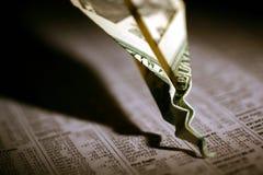 De Neerstorting van de Effectenbeurs royalty-vrije stock afbeeldingen