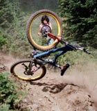 De neerstorting van de fiets stock afbeelding