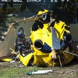 De neerstorting van de helikopter Stock Afbeeldingen