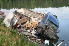 De neerstorting van de vrachtwagen Stock Afbeelding