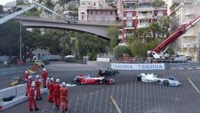 De Neerstorting van formuleeuro 2019 Monaco E Prix stock footage