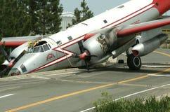 De Neerstorting van het vliegtuig stock afbeelding