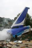 De Neerstorting van het vliegtuig Stock Foto's