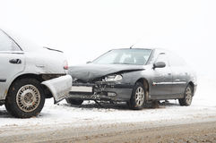 De neerstortingsongeval van de auto Stock Foto