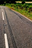 De neerstortingsscène van de weg Stock Afbeelding