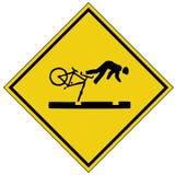 De neerstortingsteken van de fiets (AI beschikbaar formaat) Stock Foto's
