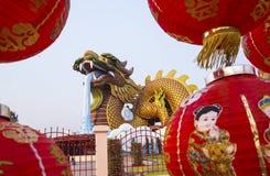 De negen-Draak Muur (Jiulongbi) bij Beihai-park, Peking, China Stock Afbeeldingen