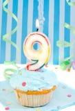 De negende verjaardag van de jongen Royalty-vrije Stock Afbeeldingen