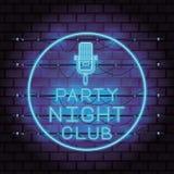 De neonlichten van de discopartij royalty-vrije illustratie
