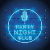 De neonlichten van de discopartij stock illustratie