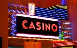 De neonlichten van het casino Stock Foto's