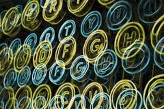 De neonschrijfmachine sluit dicht omhoog Royalty-vrije Stock Afbeeldingen