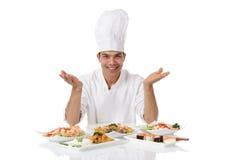 De Nepalese maaltijd van de chef-kokdiversiteit Royalty-vrije Stock Fotografie