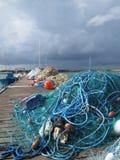 De netten van de visser Stock Foto's