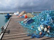 De netten van de visser Stock Foto