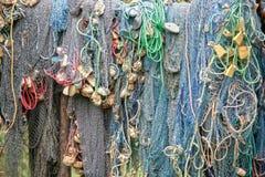 De netten van de visserij Stock Foto's