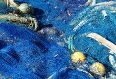 De netten van de visserij Stock Afbeeldingen
