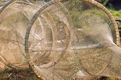 De netten van de visserij Stock Foto