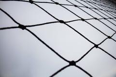 De netten van het voetbaldoel stock afbeeldingen