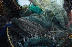 De netten van Shrimping Royalty-vrije Stock Afbeeldingen