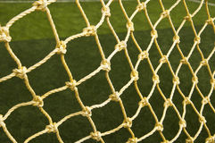 De netto achtergrond van het voetbal Stock Afbeeldingen