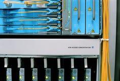 De Netwerkapparatuur van ATM Stock Foto