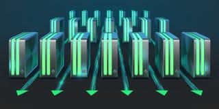 De netwerken van de computer. Stock Foto's