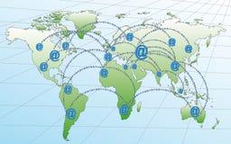 De netwerken van Internet in de wereld Stock Foto's