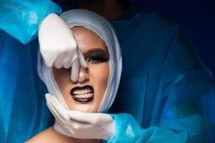 De neus geeft plastic kosmetische chirurgierhinoplasty een nieuwe vorm royalty-vrije stock fotografie